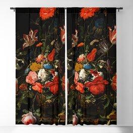 "Abraham Mignon ""Flowers in a Metal Vase"" c. 1670 Blackout Curtain"