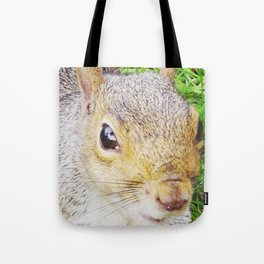 The many faces of Squirrel 5 Tote Bag