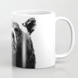 Black and white bear portrait Coffee Mug
