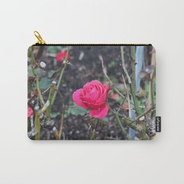 Bright Hot Pink Rose Carry-All Pouch