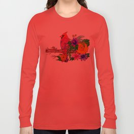 Crimson Cardinal Long Sleeve T-shirt