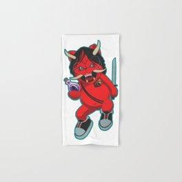 "Karma Assassins:  Lucky Oni Cat  ""Pick Your Poison"" Hand & Bath Towel"