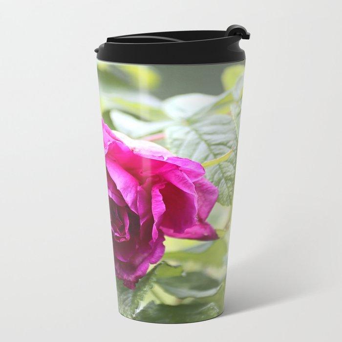 Wild Rose Metal Travel Mug