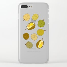 Durian Fruit Clear iPhone Case