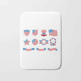 Proud To Be American National Presidents Day Bath Mat