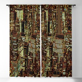 new york city skyscrapers Blackout Curtain