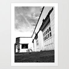Empty repair shop Art Print