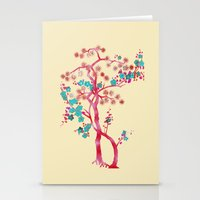 asian Stationery Cards featuring Asian Tree by Mimi Matloob Designs