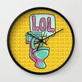 Toilet Humour Wall Clock