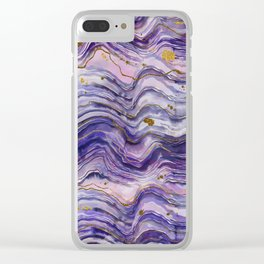 Purple Geode or Amethyst Clear iPhone Case