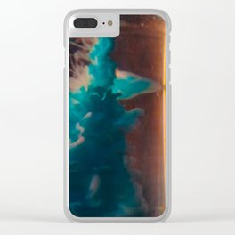 inked blue Clear iPhone Case
