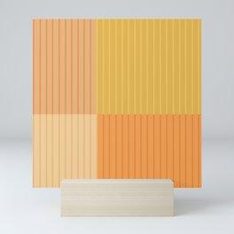 Color Block Line Abstract IV Mini Art Print