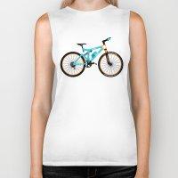 brompton Biker Tanks featuring Mountain Bike by Wyatt Design