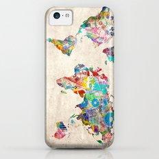 world map music art Slim Case iPhone 5c