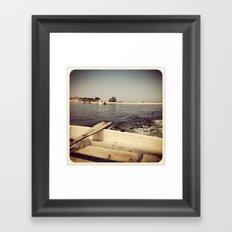 Row Framed Art Print