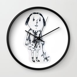 Lusia with her pet Wall Clock
