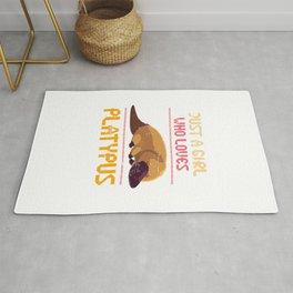 Platypus Girl Rug