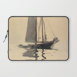 Vintage Schooner Sailboat Watercolor Painting (1894) Laptop Sleeve