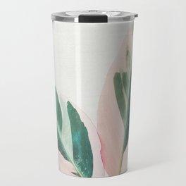 Pink Leaves I Travel Mug