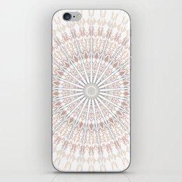 Beige White Mandala iPhone Skin