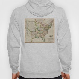 Vintage United States Map (1822) Hoody