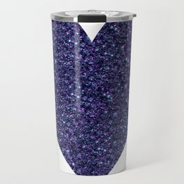 Sparkling Heart blue Travel Mug