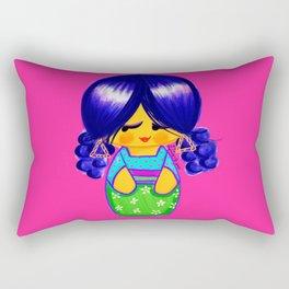 Curly Kokeshi Rectangular Pillow