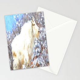 Mountain Goats In the Alpine Wyoming Mountain - Rocky Mountain Goat Stationery Cards