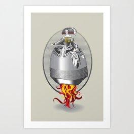 Rocket Girl Art Print