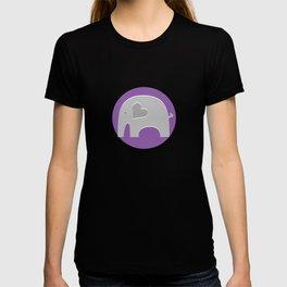 Purple Safari Elephant 2 T-shirt