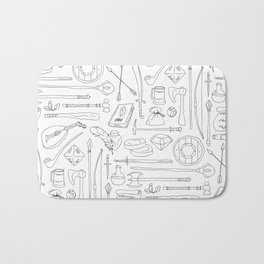 Fantasy Adventuring Equipment Bath Mat