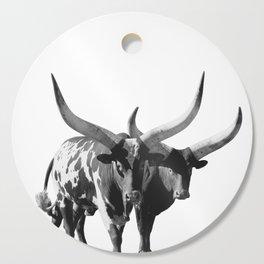Ankole-Watusi Porttrait | African Cattle Cutting Board