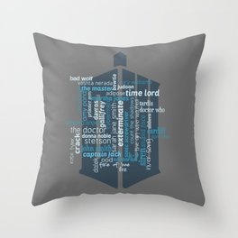 Doctor Who: Friends and Enemies Throw Pillow