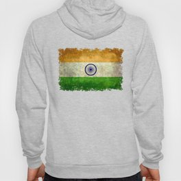 Flag of India - Retro Style Vintage version Hoody