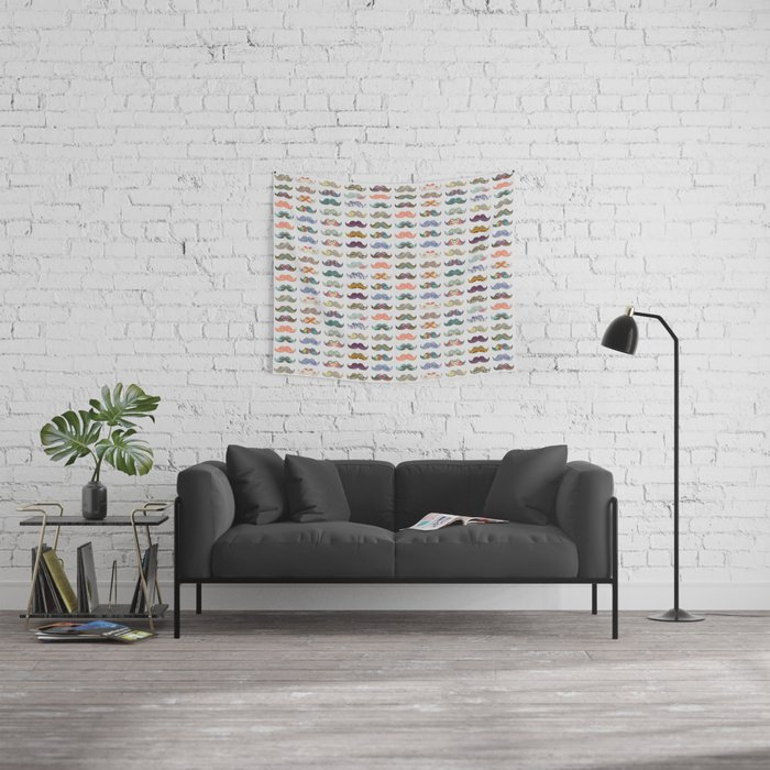Mustache Mania Wall Tapestry