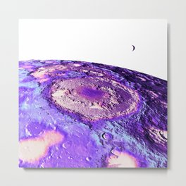 Moon Surface Lavender Metal Print
