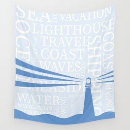 Nautical Lighthouse poster Wall Tapestry