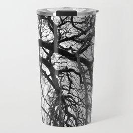 Tree in b&w Travel Mug
