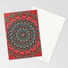 Mandala Christmas Pug Stationery Cards