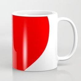 Heart (Red & White) Coffee Mug