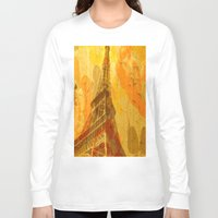 eiffel Long Sleeve T-shirts featuring Eiffel by 3crows