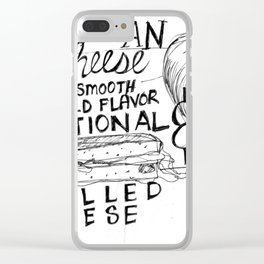 American Cheese Sandwich Clear iPhone Case