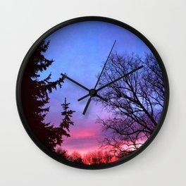 Shades Sunset Wall Clock