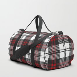 Cozy Plaid in Black and Red Duffle Bag
