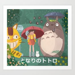 Waiting Neko Bus Art Print