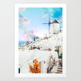 Greek Moon #digitalart #travel Art Print