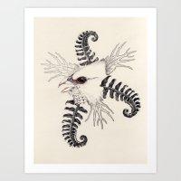 whiteheadedmousebird Art Print