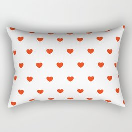 HEARTS ((cherry red on white)) Rectangular Pillow
