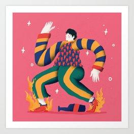 Walking and shyning Art Print