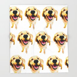 Good Boy / Yellow Labrador Retriever dog art Throw Blanket